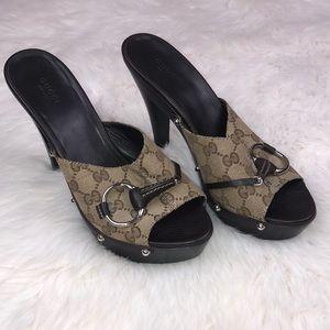 Gucci Horsebit High Heeled Mules Slip on heels